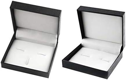 2本のPUレザーインテリアクラシックスネークスキンテクスチャカフリンクスネクタイクリップボックス