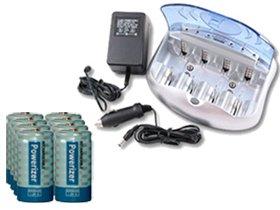 V-2299 Universal Smart Charger + 8 C 5000 Mah Powerizer Nimh Rechargeable Batteries V-2299 Universal Smart Charger