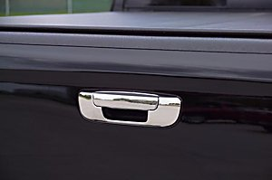 Dodge Ram 1500 02 - 08 | 2500 / 3500 05 - 09 Stainless Steel Tail Gate Outside Tailgate Chrome Handle Cover Chrome 2Pc