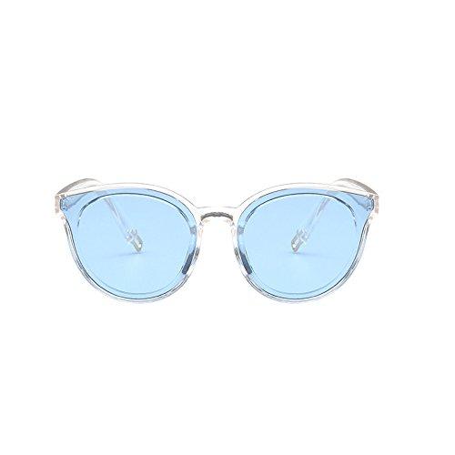 Azul Sunglasses Moda de Gafas Champagne de Gafas Color Coreana Tendencia Sol de Femeninas Sol Sol Tea de Gafas Hombres 8F4rSU8