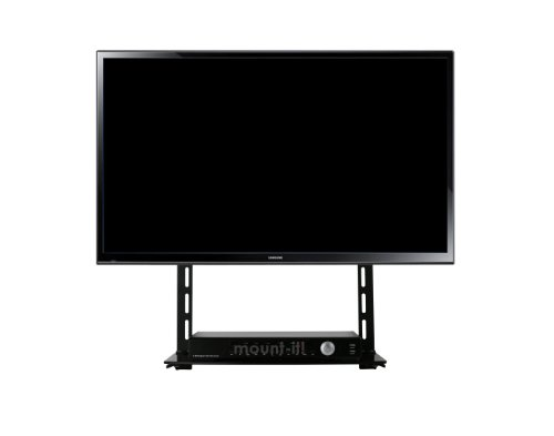 Mount-it! Low Profile Flat Panel TV Mount and Glass Entertainment Center - Combo Center