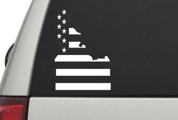 Idaho Stars and Stripes State Flag Outline Sticker 5