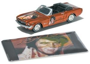 (Johnny Lightning '65 Ford Mustang Convertible Elvis Toy Car )