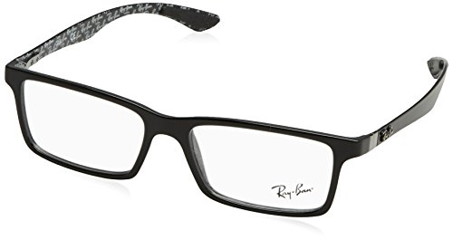 Ray-Ban Men's RX8901 Eyeglasses Top Black On Shiny Grey - Ban Eyewear Ray Glasses