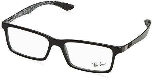 Ray-Ban Men's RX8901 Eyeglasses Top Black On Shiny Grey - Prescription Ban Eyewear Ray