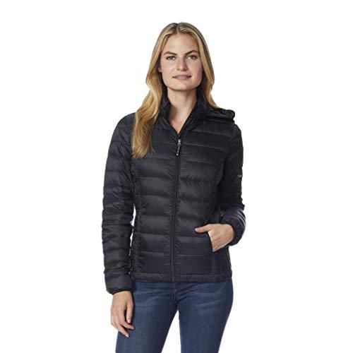32 DEGREES Womens Ultra Light Down Packable Jacket, Black, X-Large - Nylon Down Jacket