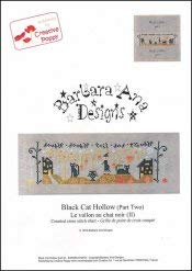 Black Cat Hollow Part Two Cross Stitch Chart and Free Embellishment