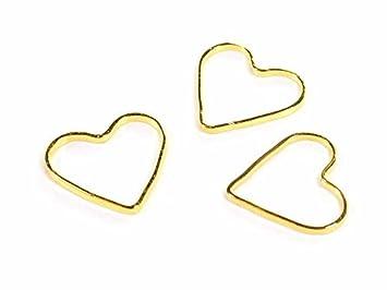 Verbinder Valentine aus Messing in goldfarben 20 Stück von Vintageparts
