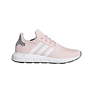 adidas Originals Women's Swift Run Sneaker, ice Pink/White/Black, 7.5 M US