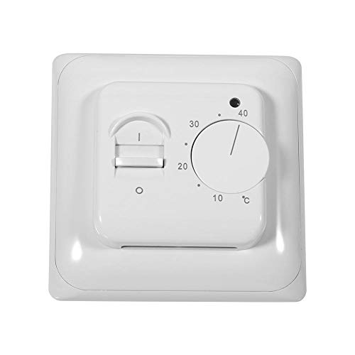 Asixx Room Thermostat, Room Floor Mechanical Thermostat Manual Heating Thermostat Air Condition Temperature Controller 230V for Auto-Control System of Space Heating ()