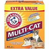 Arm and Hammer Clumping Cat Litter - Multi-Cat Strength - 40 Pound Box