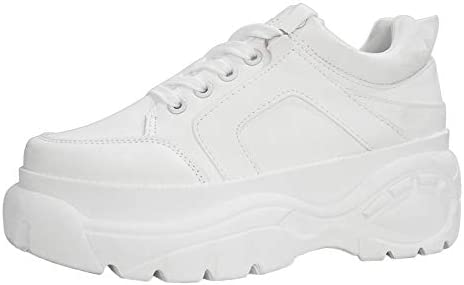 LUCKY-STEP Womens Chunky Sneakers
