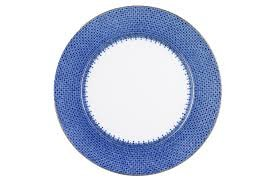 mottahedeh blue Lace Service (Charger) plate (round patter)