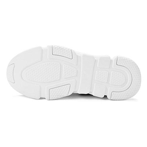 Mxson Frauen Slip On Sneaker Mesh Loafer Lässig Beach Street Sport Wanderschuhe (Neue Größe Version) Schwarz
