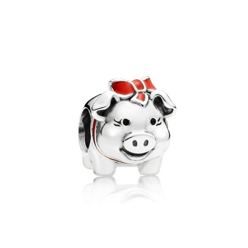 Pandora Bead Silver piggy bank 791809ENMX (Banks Furniture)