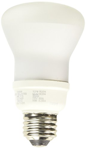 TCP 1R2014SS35K 14-watt R20 Floodlight Shatter Coat, 3500-Kelvin ()