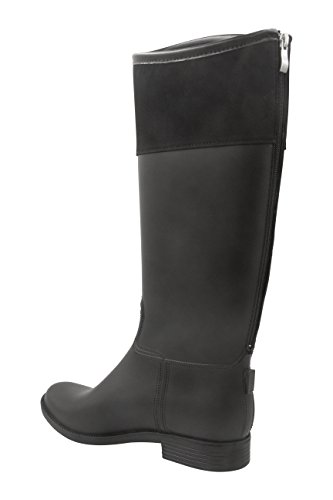 Peyton Zipper High Full Womens Black Modern Rush Rain With Knee Mid calf Back boot 5pBwRqU
