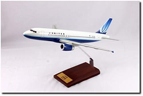 Planejunkie Aviation Desktop Model - A320 United Airlines Wood ()