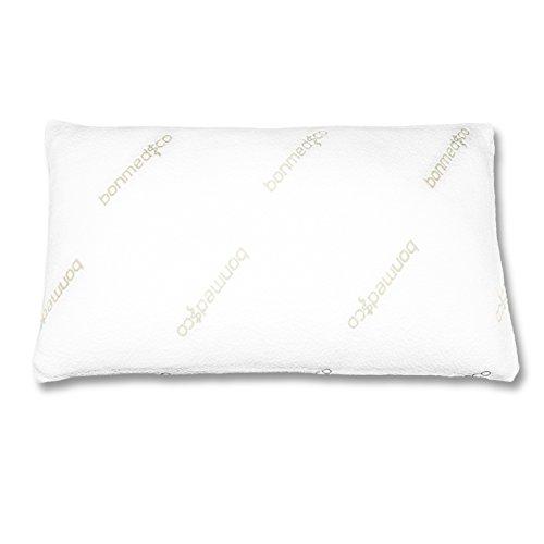 Bonmedico® Pillow Dream, hartes orthopädisches Nacken-Stützkissen mit optimalen Härtegrad, mit für Allergiker geeignetem Milbenschutz-Bezug aus Bambus, passend für 40x80 cm Bezüge