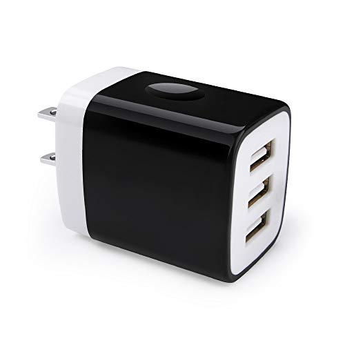 Charger Block, Hootek 3-Muti Port USB Travel Wall Charger Plug Power Adapter Charging Block Cube Box Compatible for iPhone Xs MAX XR X 8 7 6S Plus, iPad, iPod, Samsung Charger Box, LG, HTC, Android