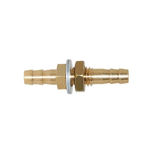 - Joyway 1/4'' ID Hose Barb Thru-Bulk Head Hex Union Brass Fitting with Flat Washer Gasket Water/Fuel/Air