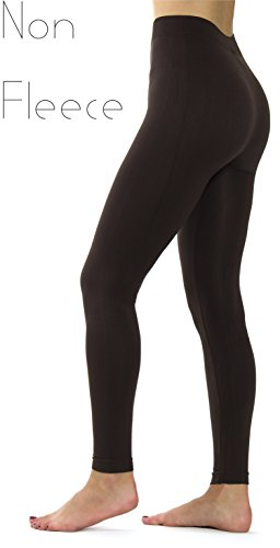 Ylluo Leggings High Waist Pants Buttery Soft Fleece and Non Fleece Tights Regular and Plus Size (L/XL/XXL (US Size 12-18), (Fashion Solid Tight)