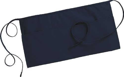 Fiumara Apparel 3 Pockets Waist Apron Poly Cotton Commercial Restaurant Kitchen Ideal for Professionals - Navy Blue | 12