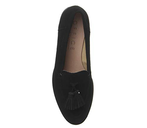 With Suede Black Loafers Studded Women''s Retro Rand Office O1qWIXRP