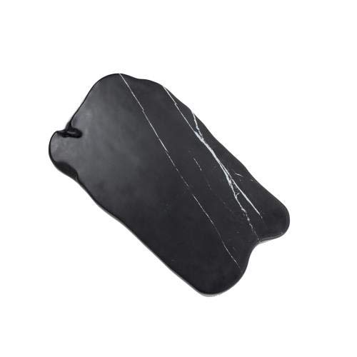 American Metalcraft MB17 Melamine Organic Serving Board, Black, Marble, 17 3/8-Inch Length