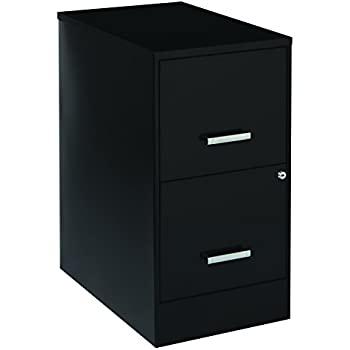 Amazon.com: Lorell 14341 18 Deep 2-Drawer File Cabinet, Black ...