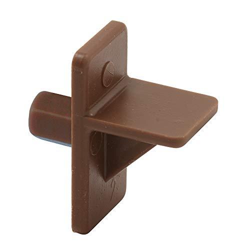 - Shelf Support Peg, 5 mm Diam. Peg, Brown Plastic,(Pack of 12)