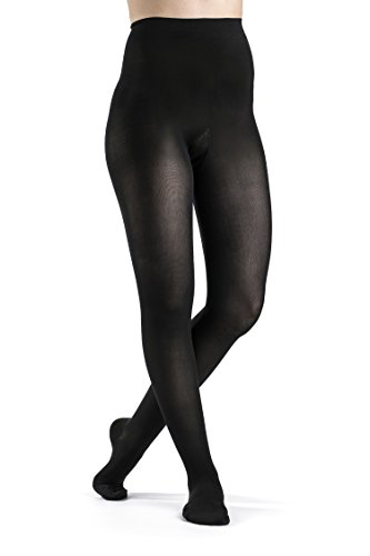 SIGVARIS Women's SOFT OPAQUE 840 Closed Toe Compression Pantyhose (Soft Compression Pantyhose Short)