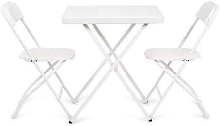 Newstorm 50011001119721 - Set mesa acero y dos sillas acero ...