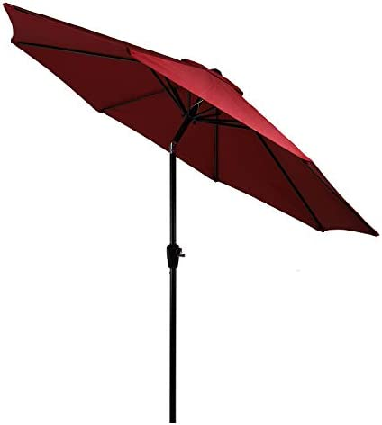 10' Patio Umbrella 2Years Colorfast Outdoor Market Table Umbrella