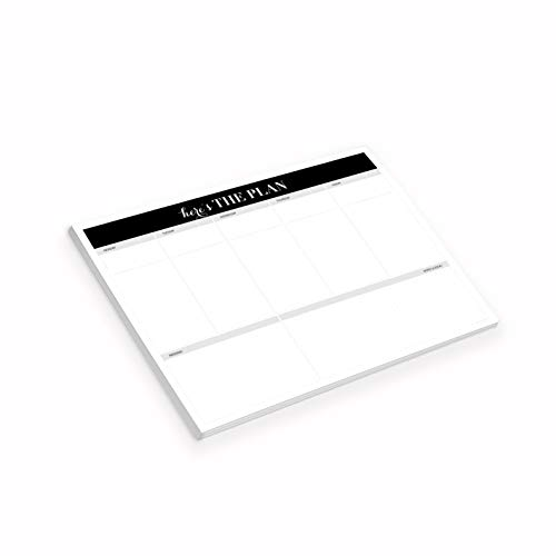 Magnetic Undated Weekly Planner 50 Sheets | Organizer, Desk Pad, Calendar, Tear-Off to-Do List, Memo Pad, Note Pad, 8.5