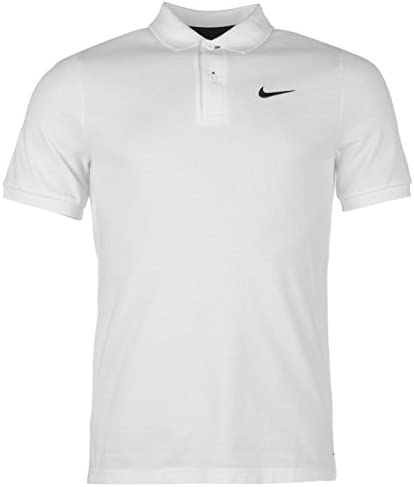 Nike Sport – Polo para hombre blanco negro tamaño m algodón nuevo ...