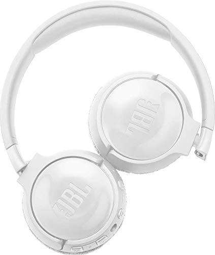 JBL Tune 600BTNC by Harman On-Ear Wireless Bluetooth Noise Canceling Headphones (White) 2021 July Noise Cancelling Headphones JBL Pure Bass Sound Wireless Bluetooth Streaming