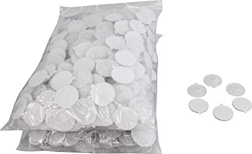 Adhesive Backed Cd - 500 Clear Adhesive Backed Spider CD / DVD Hubs (Rosettes) - #CDNRSPCL - For Gluing into a Double or Triple Chubby CD Jewel Box To Increase Capacity! (Also Called Hubcaps or Caps)