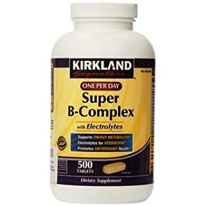 Kirkland Signature One Per Day Super B Complex with Electrolytes,500 tablets