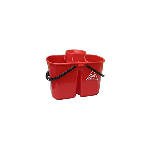 AUK CL060-R Duo Hygiene Mop Bucket Red 15 L Capacity