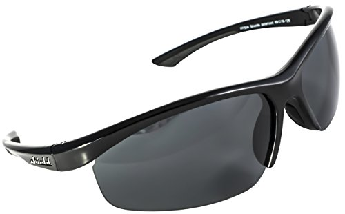 Shield Skies Polarized Sports Sunglasses for Running Fishing Cycling Baseball Softball Tennis Ski Men Women (Blue 70) (Black Black)