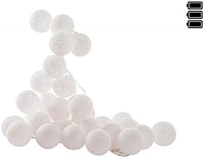dcasa - Guirnalda Luz led 30 bolas algodon muy romantico por noche ...