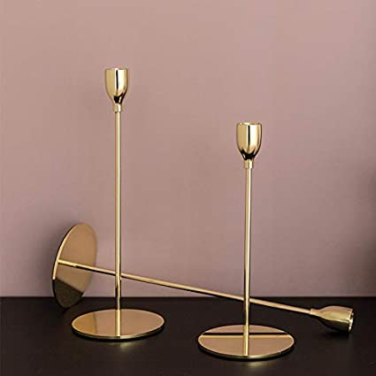 YALONG Metal Candle Holders For Taper Candles Decoration Birthday Wedding Dinning Party