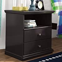 Nightstand with Drawers and Open Shelf For Additional Storage Bedroom Furniture