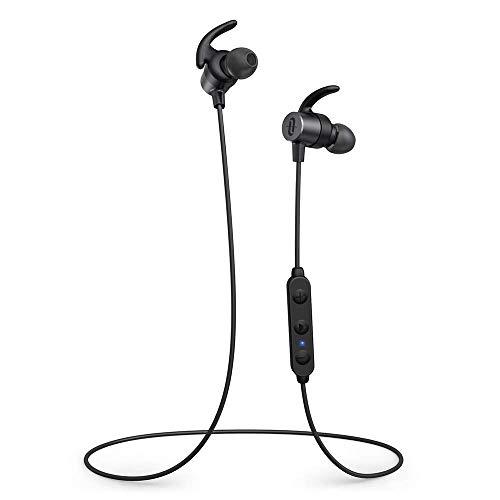 TaoTronics Bluetooth Headphones Bluetooth 5.0 Sports Earphones Magnetic Earbuds aptX HD Audio 14 Hours Playtime 3 EQ Setting CVC 8.0 Noise Cancellation Bulit-in Mic IPX6 Waterproof (Renewed)