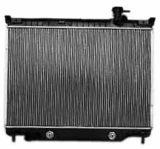 TYC 2458 Chevrolet/GMC 1-Row Plastic Aluminum Replacement Radiator ()