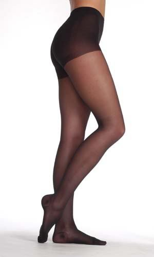Juzo Attractive Pantyhose 15-20mmHg Closed Toe, 1, Black by Juzo