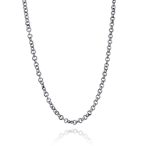 Sterling Silver 3.5mm Rolo Rollo Chain Link Necklace - Unisex 16