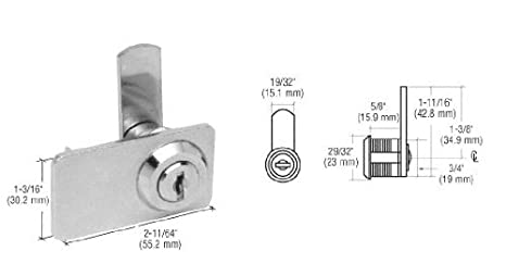 all keyed the same Double door cabinet lock