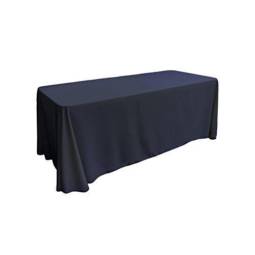 LA Linen Polyester Poplin Rectangular Tablecloth, 90 by 132-Inch, ()